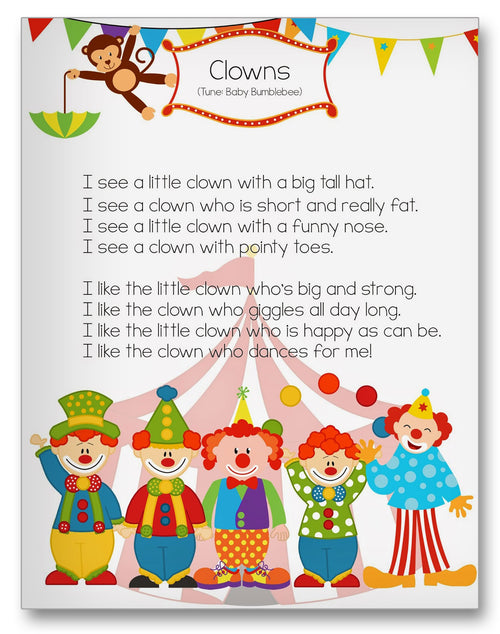 Clown Song Classroom Activity Worksheet