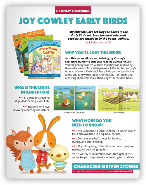 Joy Cowley Early Birds Series Snapshot