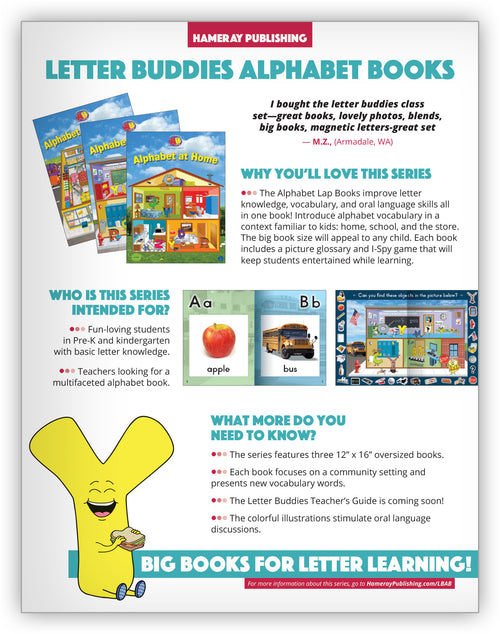 Letter Buddies Alphabet Books Series Snapshot
