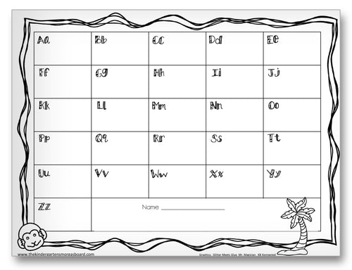 Letter Recording Sheet Classroom Activity Worksheet