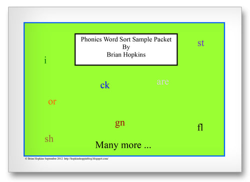 Phonics Word Sort Classroom Activity Worksheet
