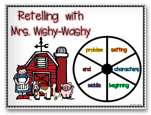 Retelling with Mrs. Wishy-Washy Classroom Activity Worksheet