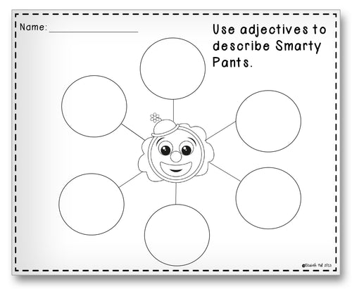 Smarty Pants Bubble Classroom Activity Worksheet