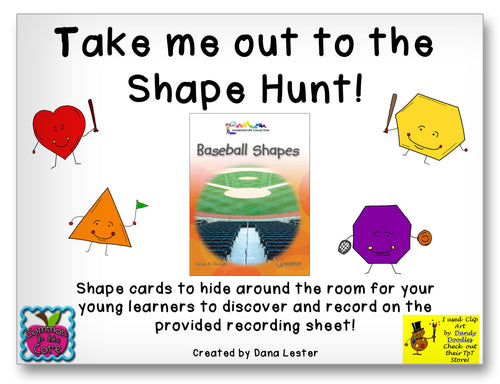 Take Me Out to the Shape Hunt Classroom Activity Worksheet