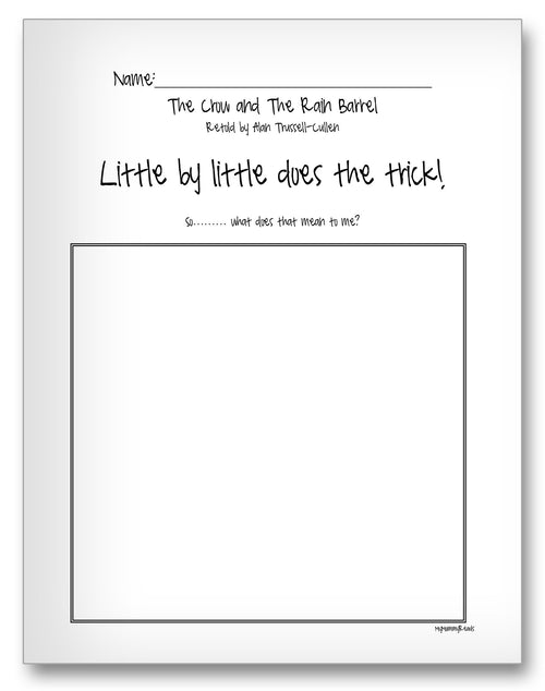 Traditional Tales Classroom Activity Worksheet