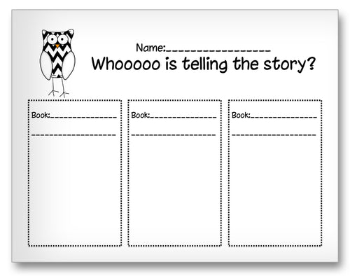 Who Is Telling the Story Classroom Activity Worksheet