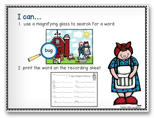 Wishy-Washy Compound Words Classroom Activity Worksheet