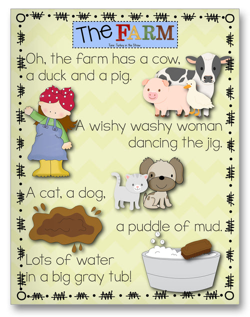 Wishy-Washy Song Classroom Activity Worksheet