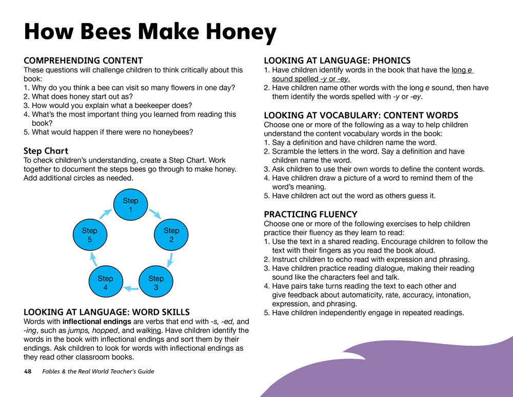 How Bees Make Honey Teacher's Guide