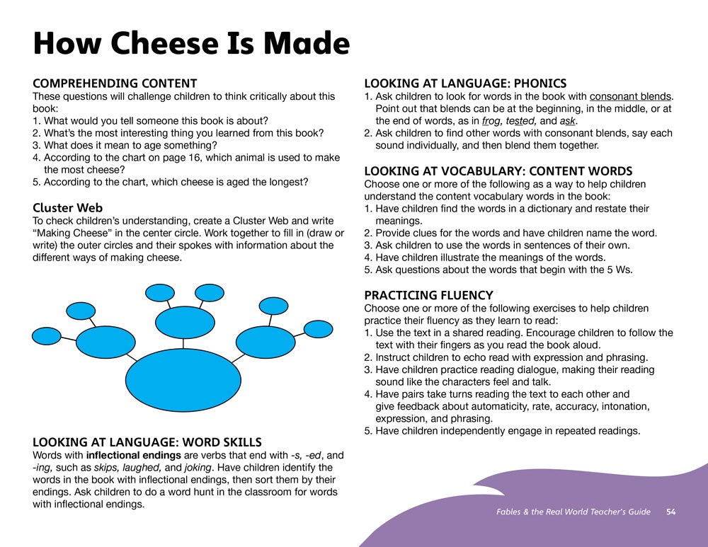 How Cheese Is Made Teacher's Guide