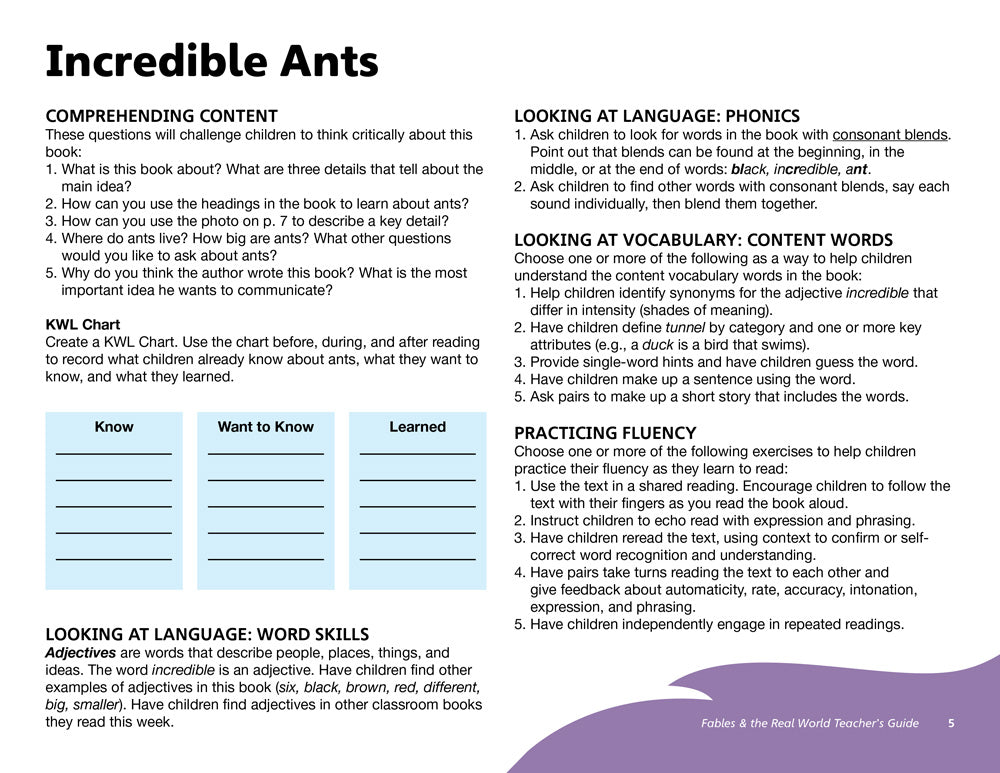 Incredible Ants Teacher's Guide