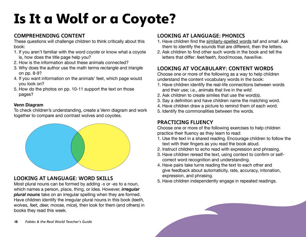 Is it a Wolf or a Coyote? Teacher's Guide