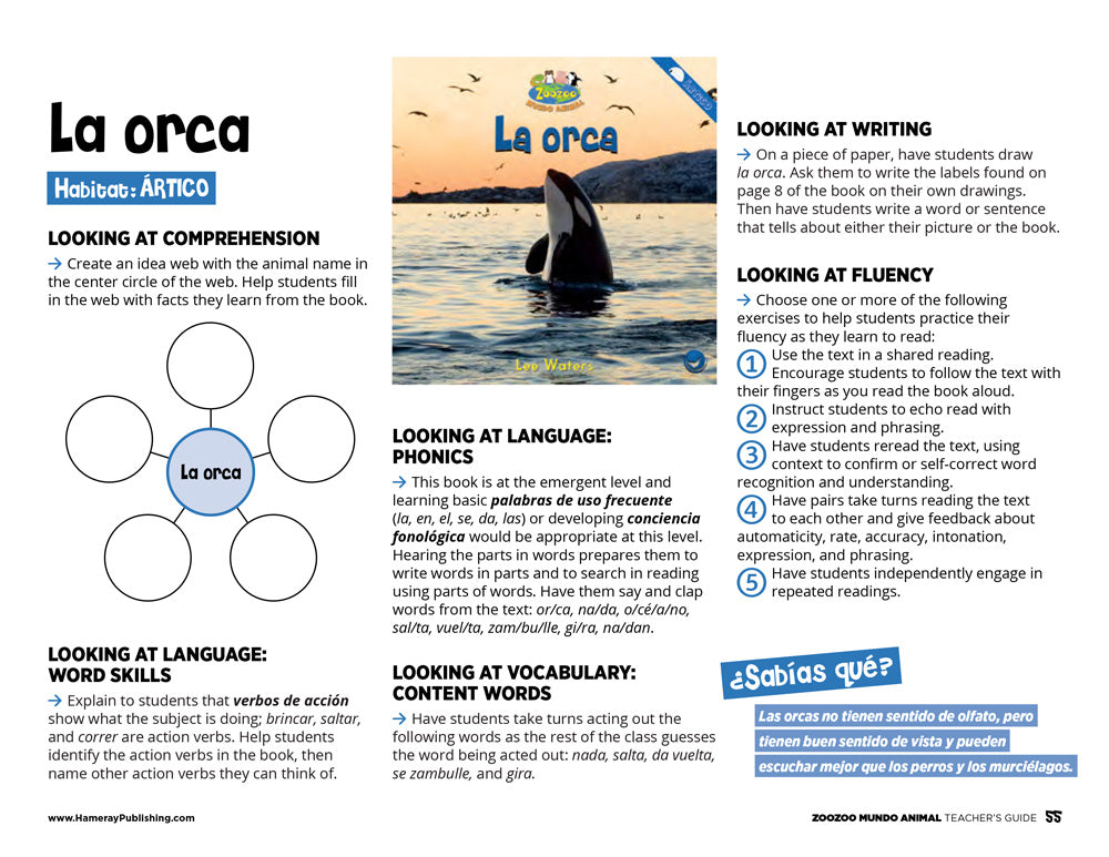 La orca Teacher's Guide