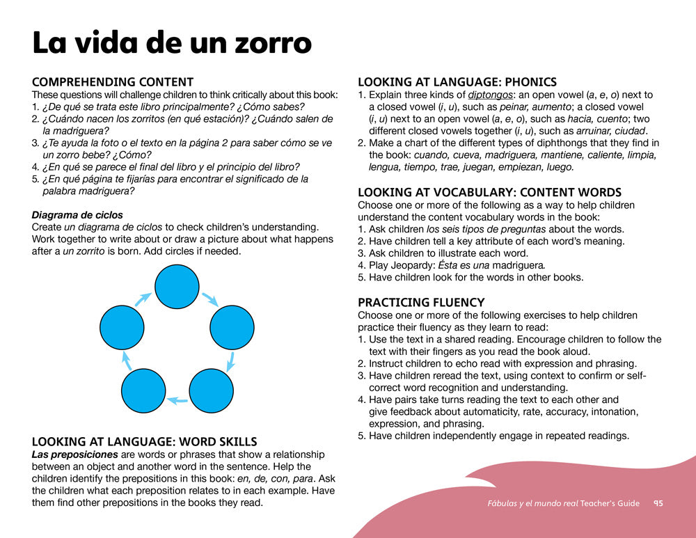 La vida de un zorro Teacher's Guide
