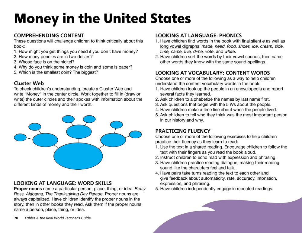 Money in the United States Teacher's Guide