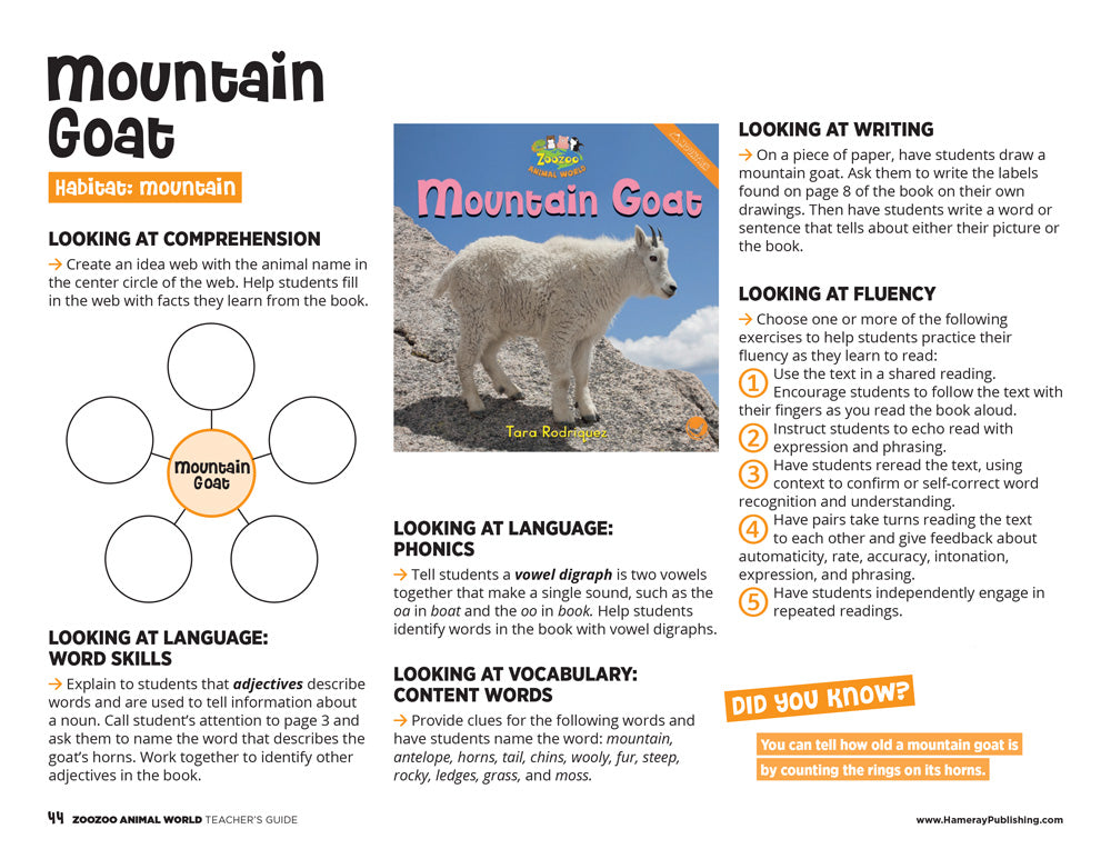 Mountain Goat Teacher's Guide