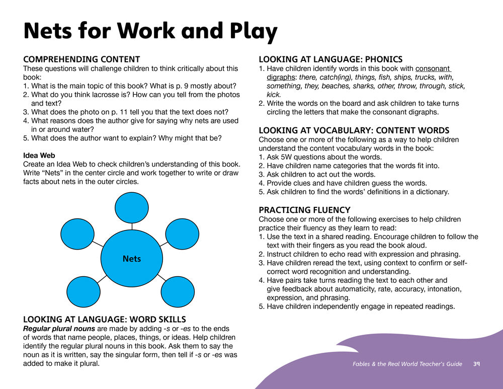 Nets for Work and Play Teacher's Guide