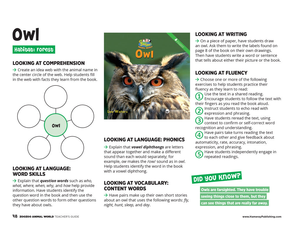 Owl Teacher's Guide