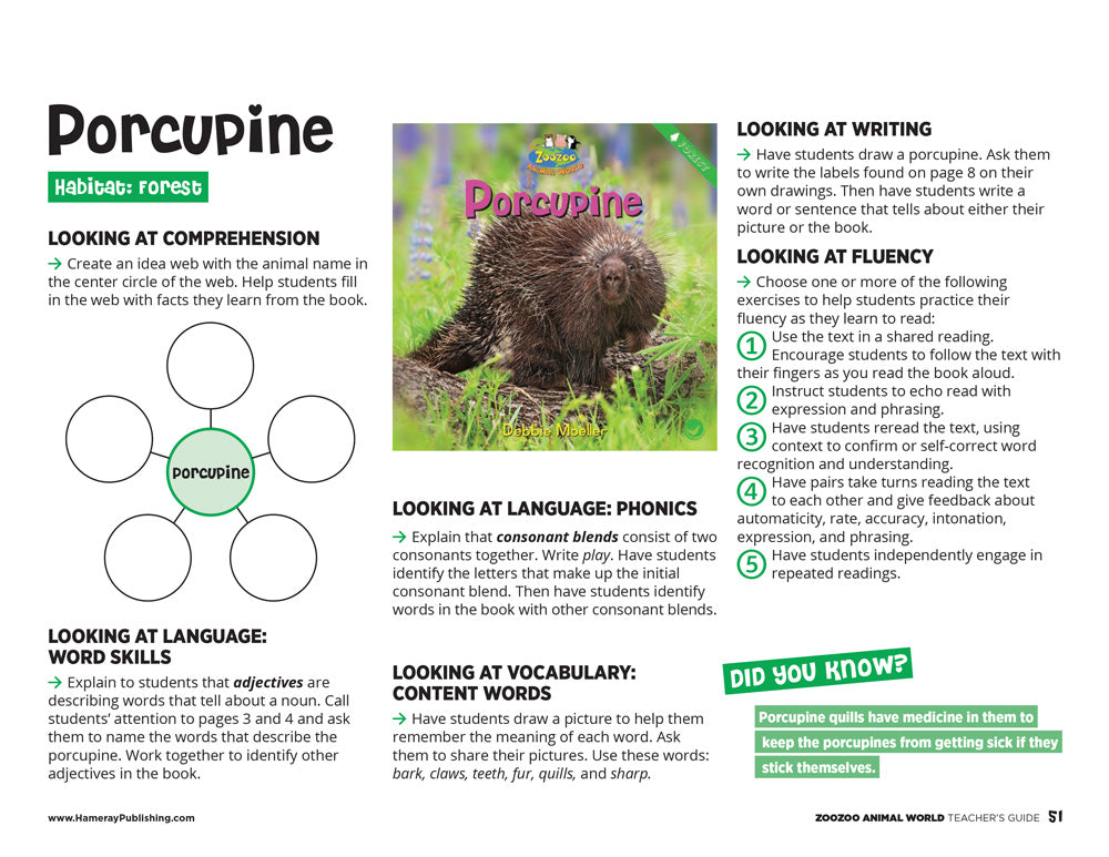 Porcupine Teacher's Guide