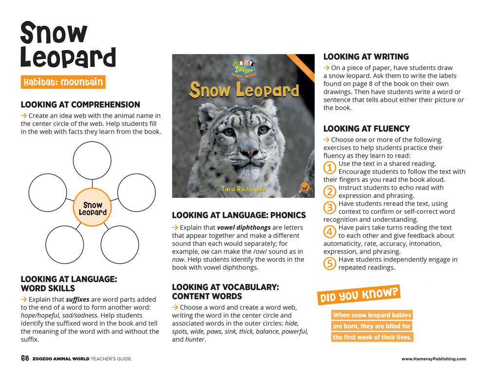 Snow Leopard Teacher's Guide