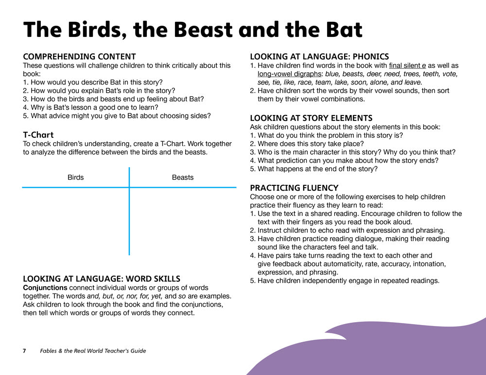The Birds, the Beasts, and the Bat Teacher's Guide