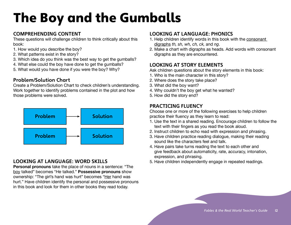 The Boy and the Gumballs Teacher's Guide