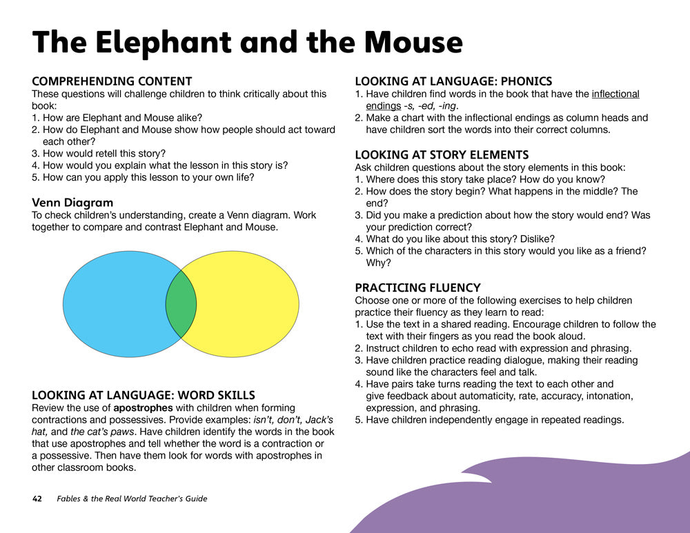 The Elephant and the Mouse Teacher's Guide