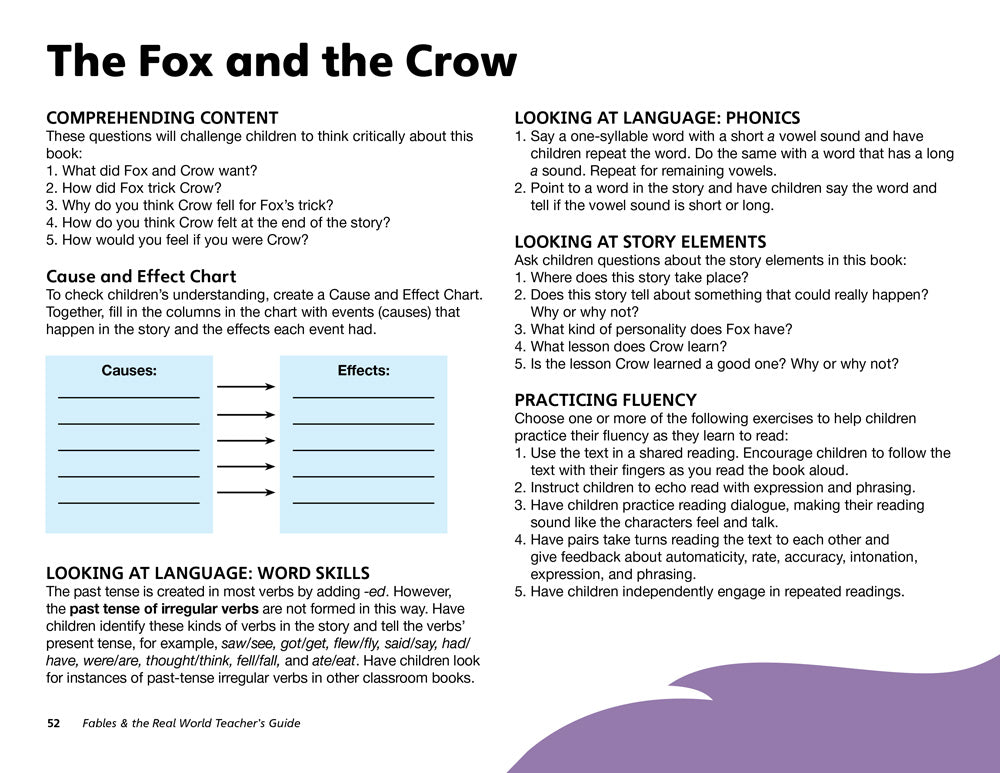 The Fox and the Crow Teacher's Guide