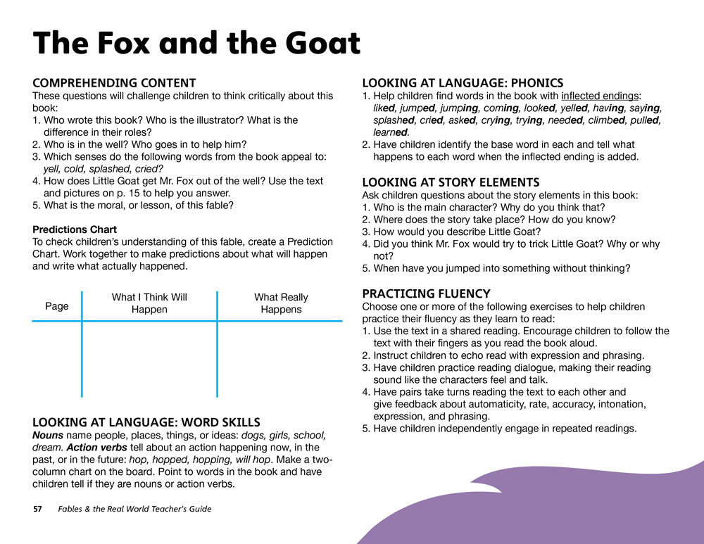 The Fox and the Goat Teacher's Guide