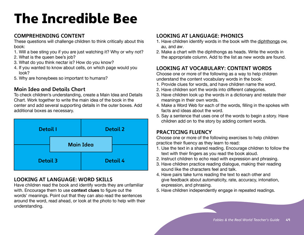 The Incredible Bee Teacher's Guide