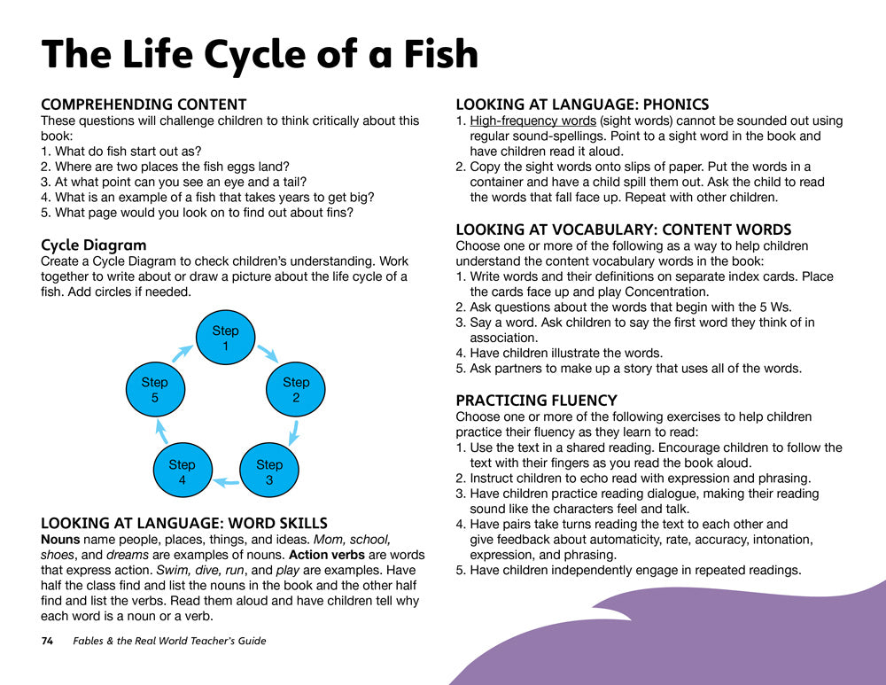 The Life Cycle of a Fish Teacher's Guide