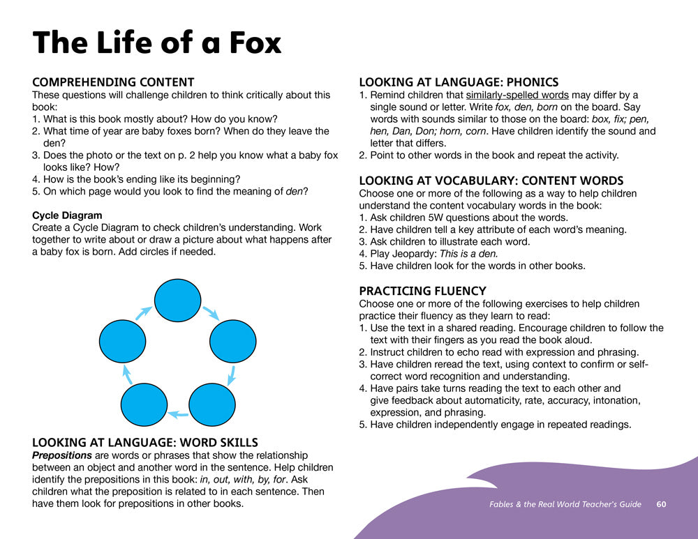The Life of a Fox Teacher's Guide