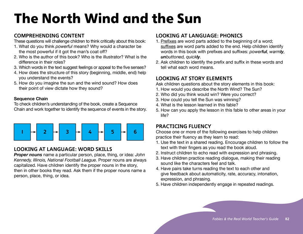 The North Wind and the Sun Teacher's Guide