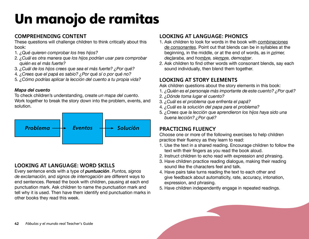 Un manojo de ramitas Teacher's Guide