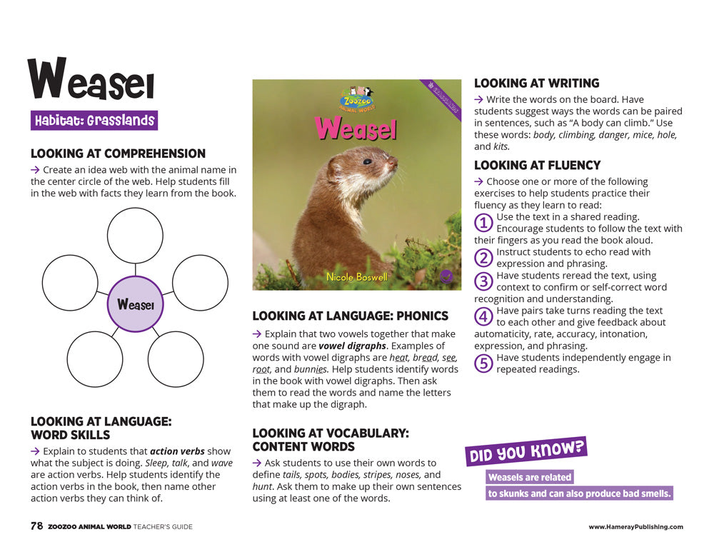 Weasel Teacher's Guide