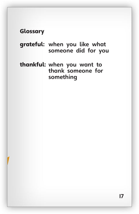 Being Grateful Leveled Book