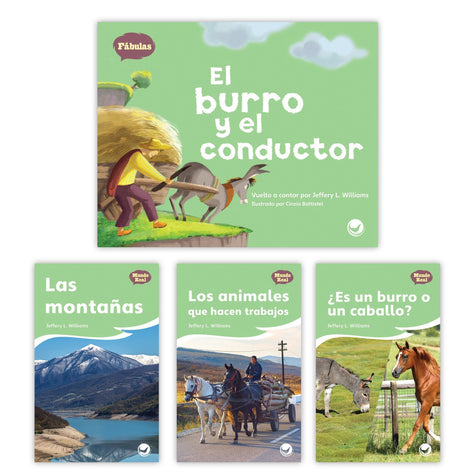 El Burro Y El Conductor Theme Set Image Book Set