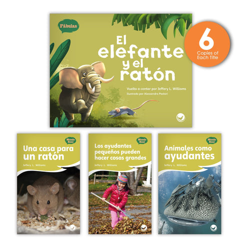 El elefante y el ratón Theme Guided Reading Set from Fábulas y el Mundo Real