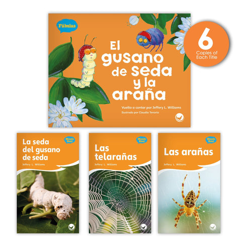 El Gusano De Seda Y La Arana Theme Guided Reading Set Image Book Set