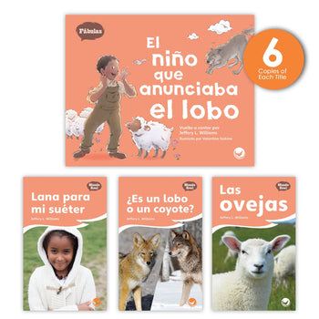 El niño que anunciaba el lobo Theme Guided Reading Set from Fábulas y el Mundo Real