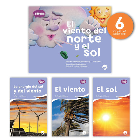 El viento del norte y el sol Theme Guided Reading Set from Fábulas y el Mundo Real