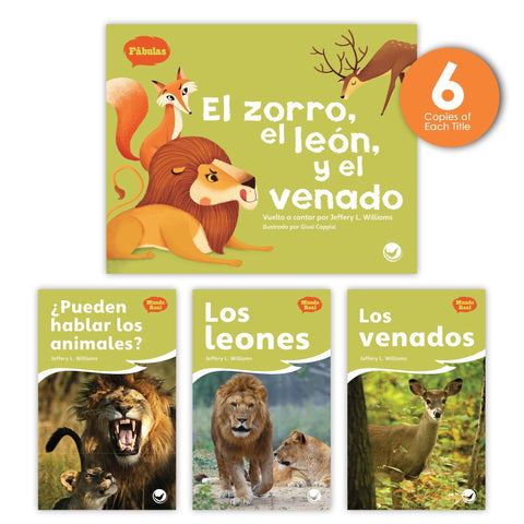 El zorro, el león y el venado Theme Guided Reading Set from Fábulas y el Mundo Real