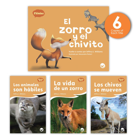 El zorro y el chivito Theme Guided Reading Set from Fábulas y el Mundo Real