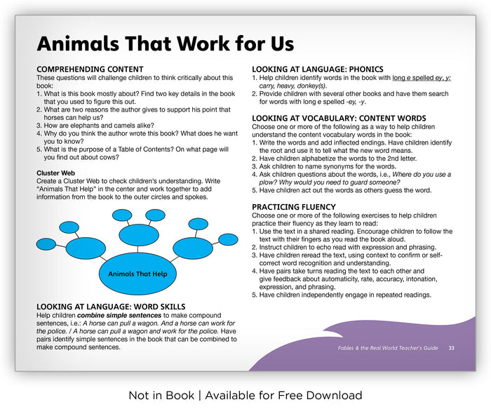Animals That Work for Us from Fables & the Real World