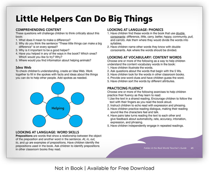 Little Helpers Can Do Big Things from Fables & the Real World