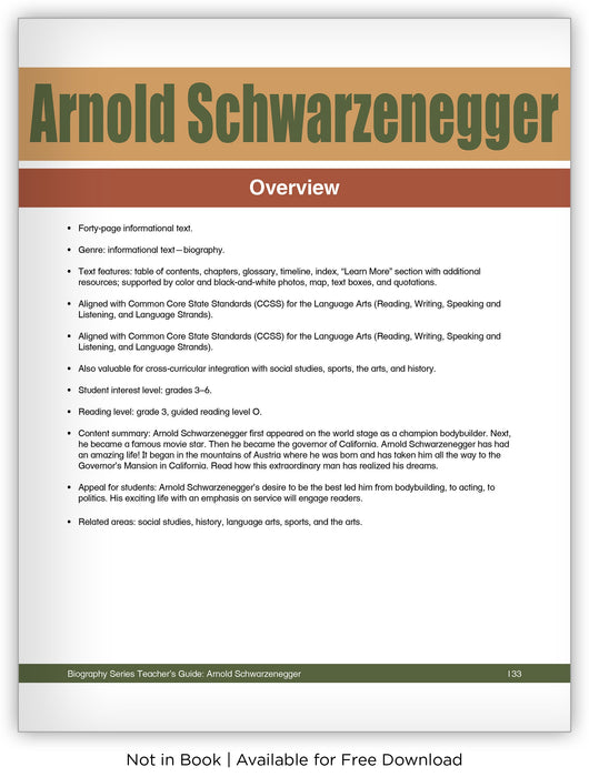 Arnold Schwarzenegger from Hameray Biography Series