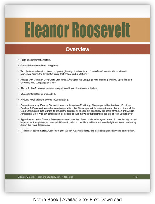 Eleanor Roosevelt from Hameray Biography Series