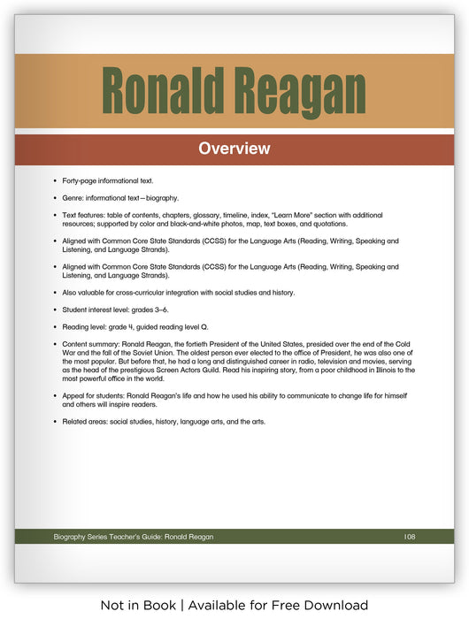 Ronald Reagan from Hameray Biography Series