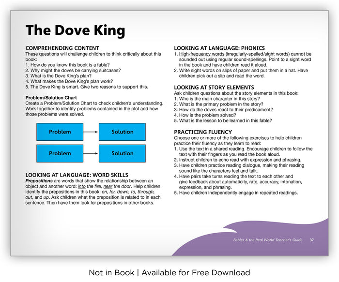 The Dove King - Fables & the Real World - Hameray Publishing