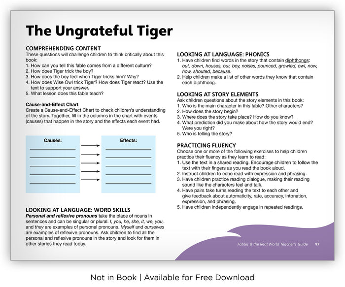 The Ungrateful Tiger - Fables & the Real World - Hameray